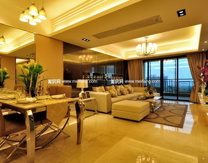 天伦誉海湾 样板间:客厅和餐厅