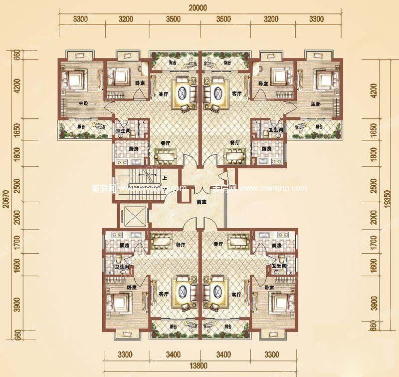 万和丽园 1室2厅1卫 57