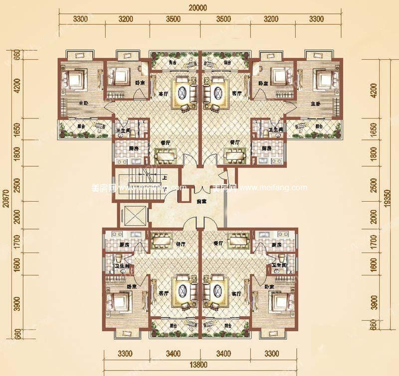 万和丽园 2室2厅1卫 78