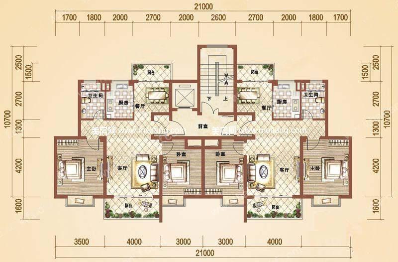 万和丽园 2室2厅1卫 90