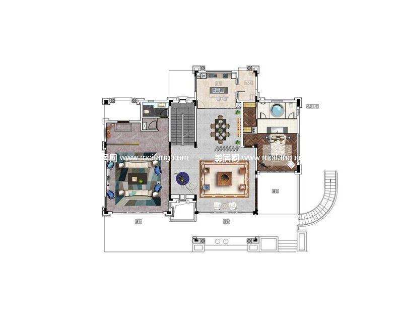 A户型 6室5厅7卫1厨 556.9㎡