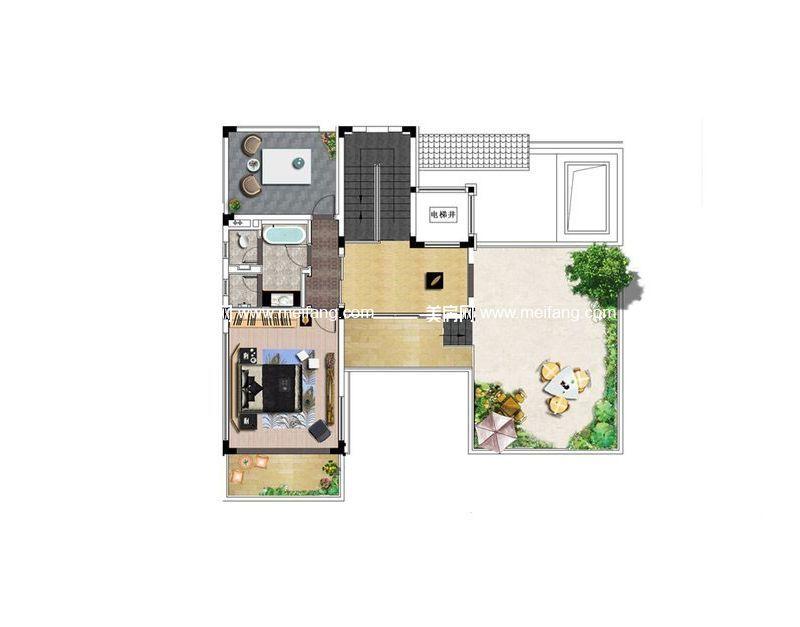 B01户型 3室6厅4卫1厨 364.17㎡