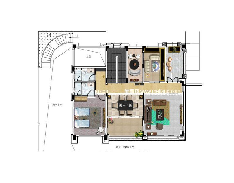 B08户型 3室6厅4卫1厨 342.26㎡