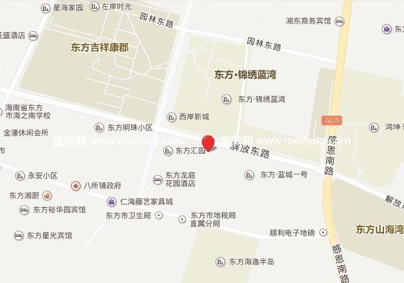 东方假日 位置图