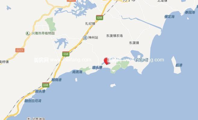 隆源神州半岛 位置图