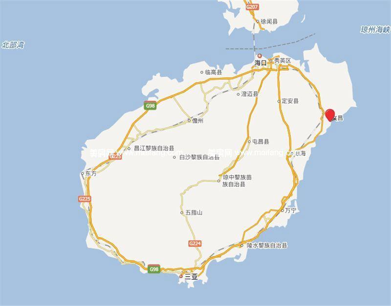 平海美龄湾 区位图