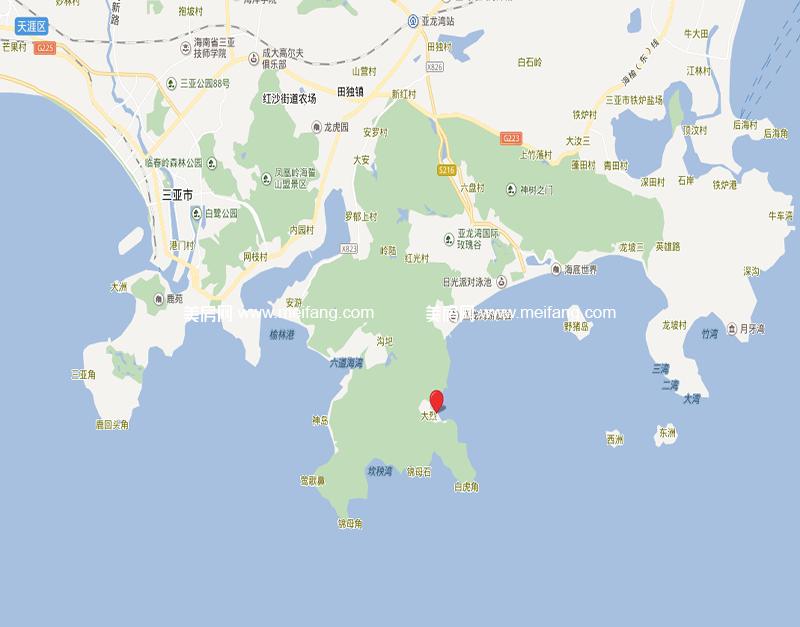 三亚太阳湾别墅区位图