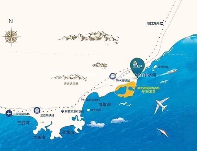 新華聯香水灣區位圖