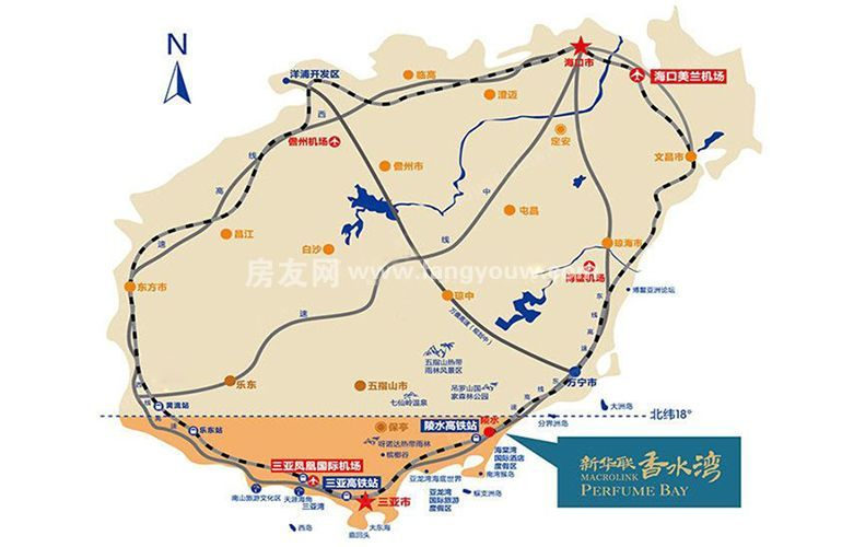 新华联香水湾 区位图
