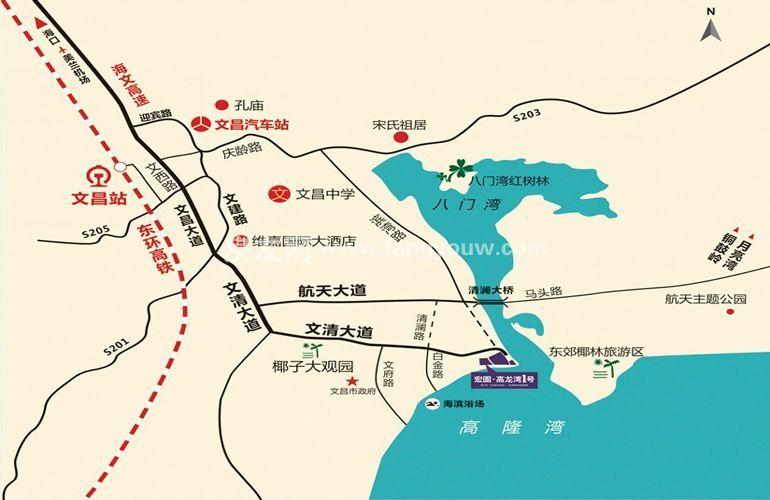 宏图高龙湾1号 区位图