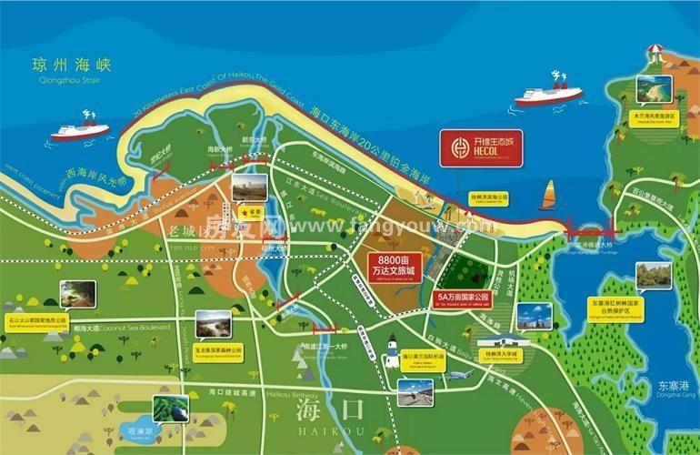 开维生态城 区位图