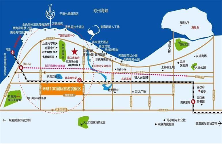 环球100宝龙城 区位图