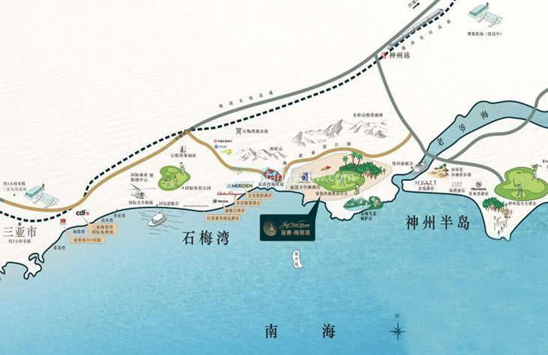 金泰南燕灣 區位圖