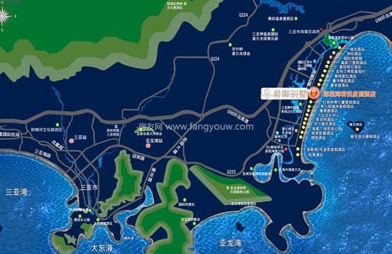 海棠湾君御区位图
