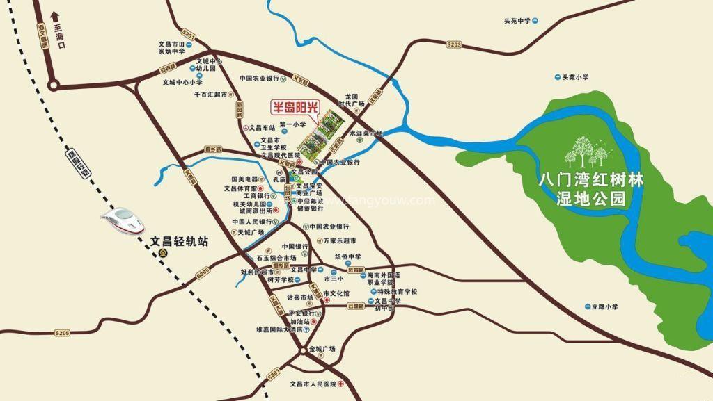文昌半岛阳光 区位图