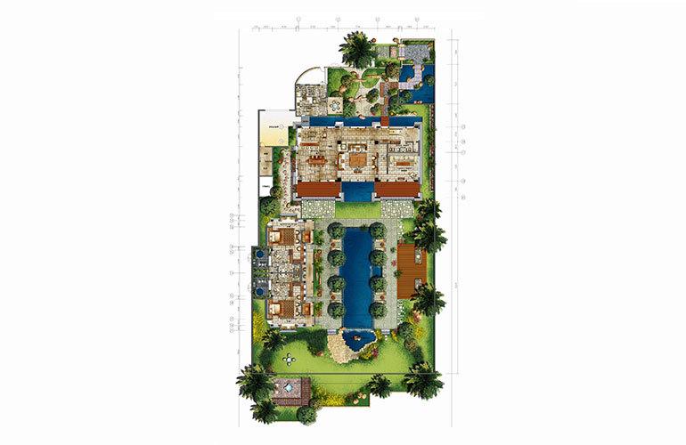 远东香水湾1号 别墅C3-4居2厅4卫1厨-建面702㎡