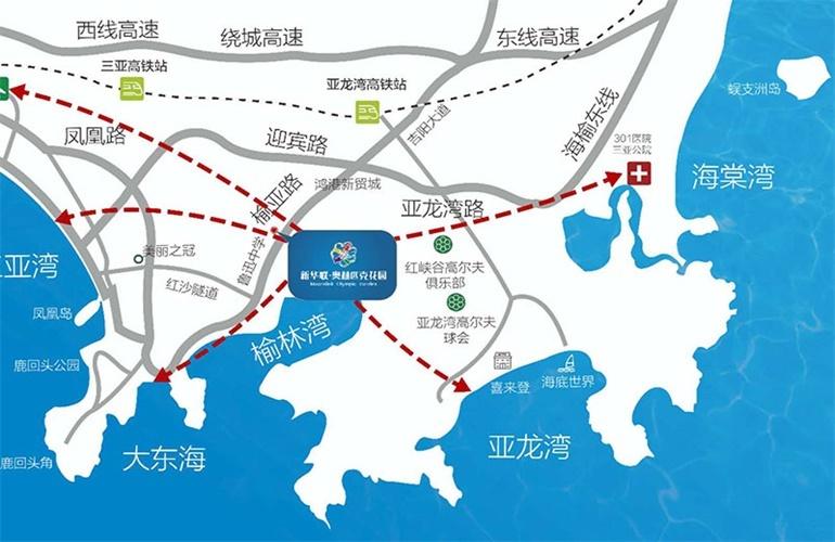 新华联奥林匹克花园区位图
