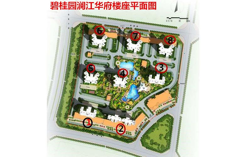 碧桂园澜江华府 规划图