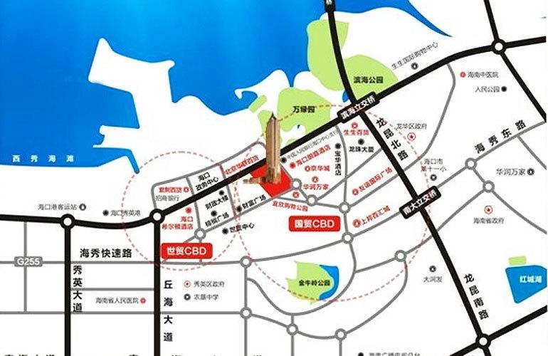 置地东方广场 区位图