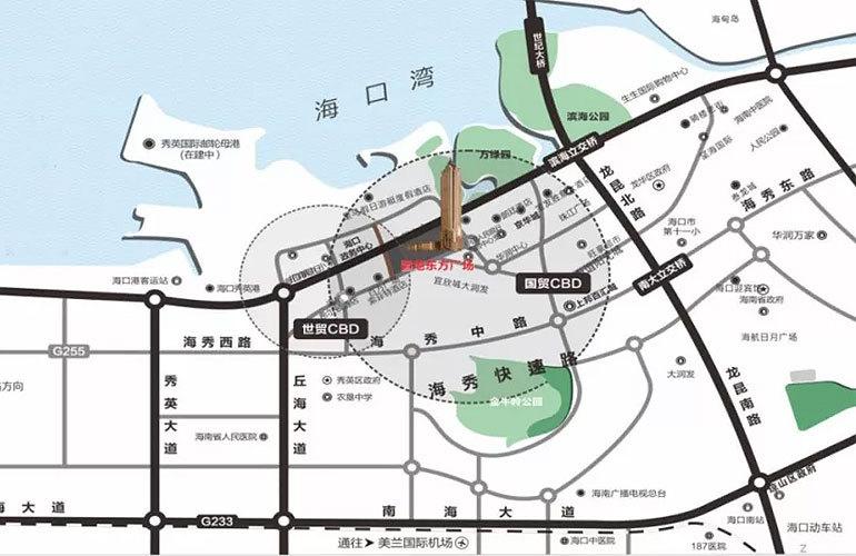 置地东方广场区位图