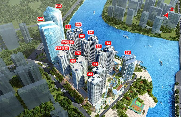碧桂园滨江海岸 楼栋分布图