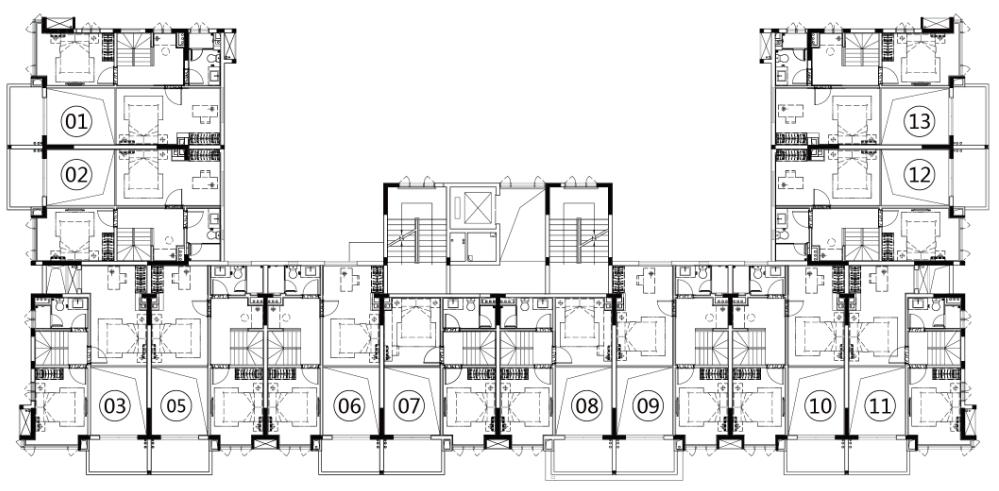 富力湾 T区 山海御墅夹层平面图