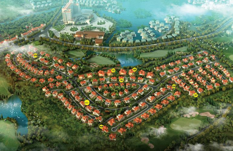 富力红树湾 鸟瞰图