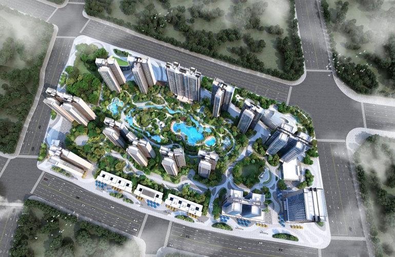 华侨城·曦海岸 鸟瞰图