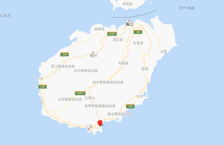 国家海岸保利海棠湾 区位图