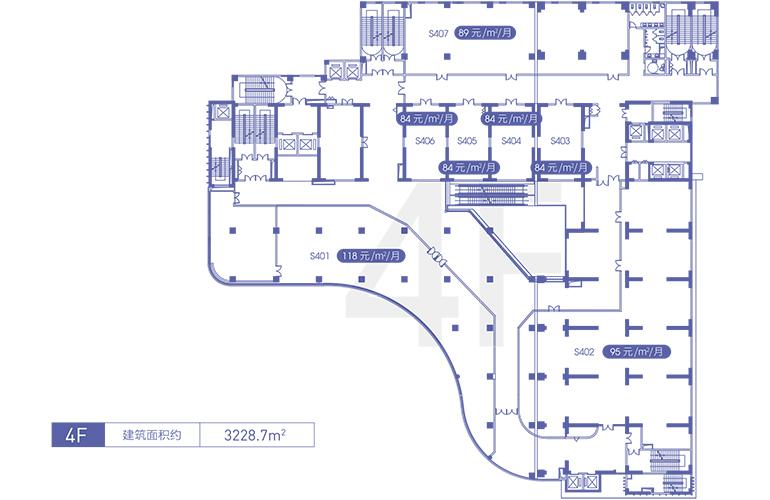 融创精彩天地 4F商铺平面图