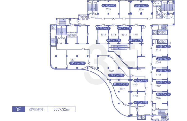 融创精彩天地 3F商铺平面图