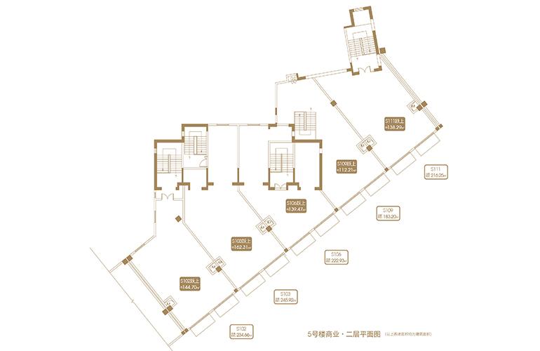 融创海口壹號 D12地块5#商业二层平面图