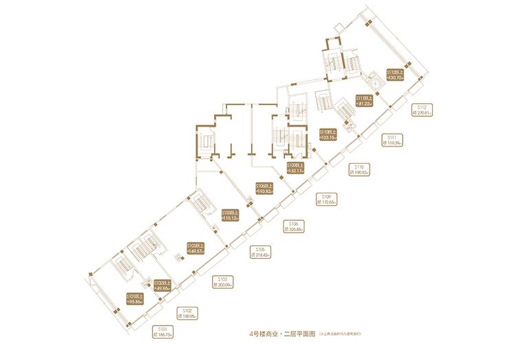 融创海口壹號 D12地块4#商业二层平面图