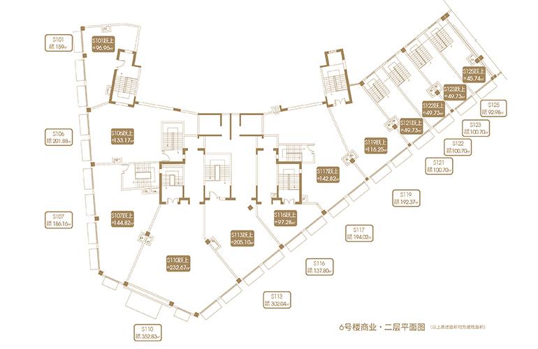 融创海口壹號 D12地块6#商业二层平面图