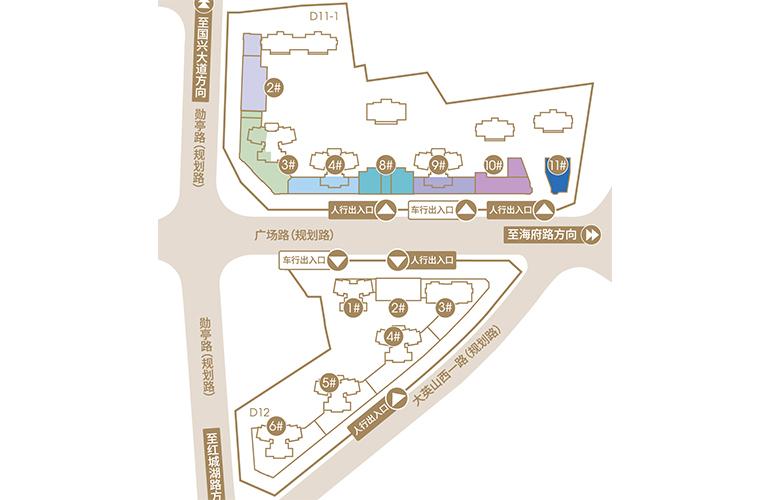融创海口壹號 规划图