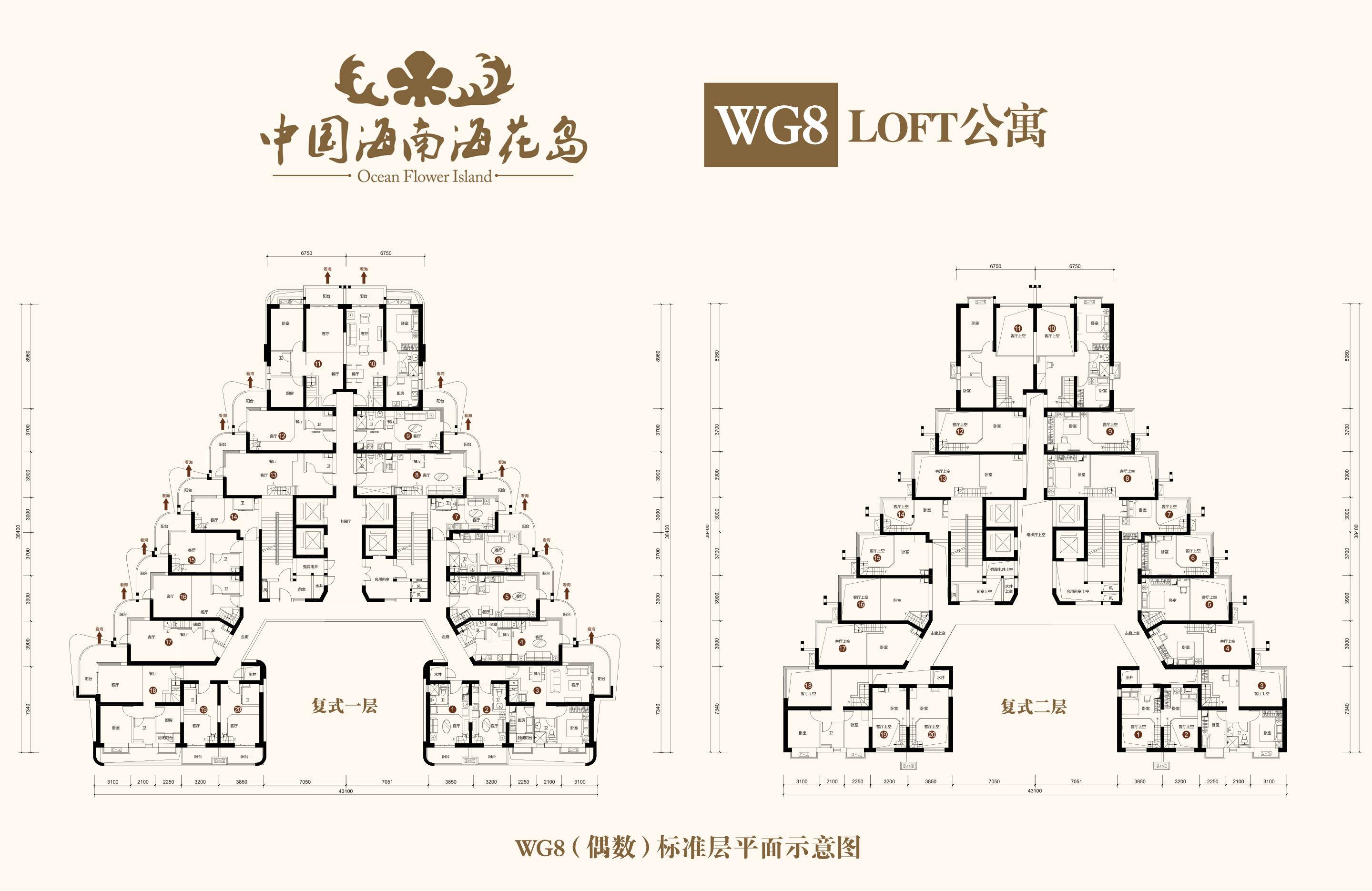 恒大海花岛 WG8(偶数)标准层 建面29-86㎡