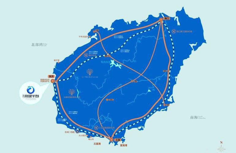 碧桂园海逸半岛 区位图