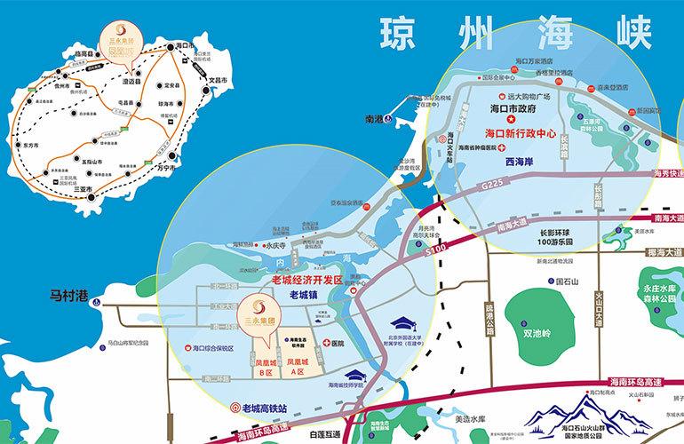 冠永凤凰城区位图
