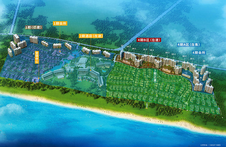 合景汀澜海岸 规划图