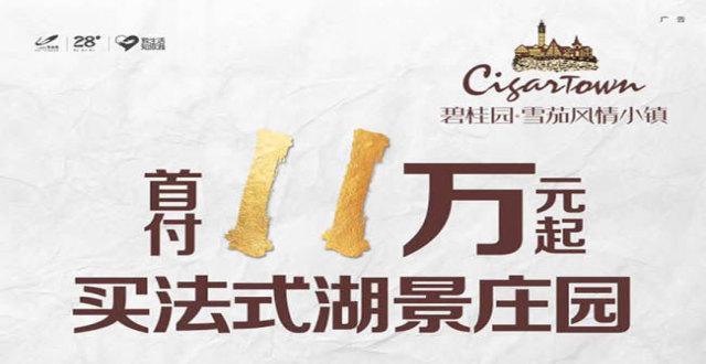 儋州碧桂园雪茄风情小镇法式湖景庄园房源在售,首付11万元!