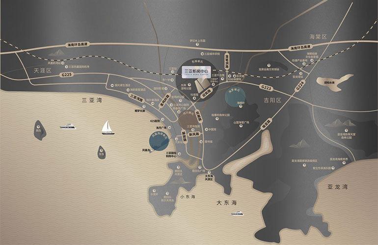 三亚新闻中心区位图