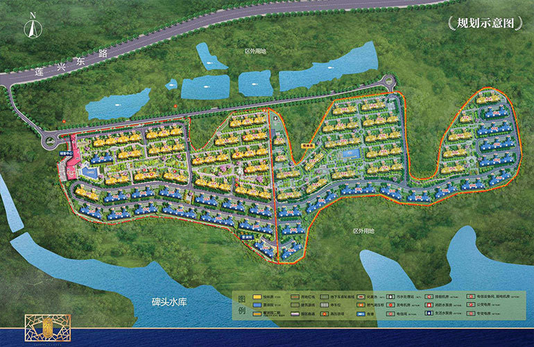 碧桂园兴隆湖畔 规划图