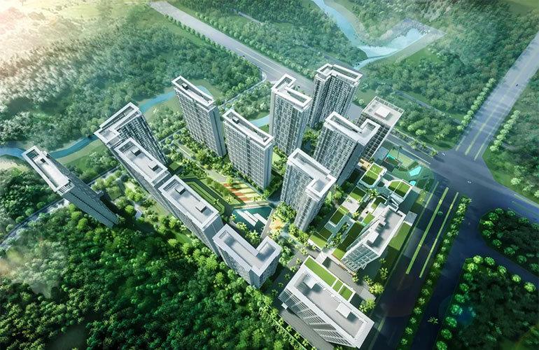 中南智慧城鸟瞰图