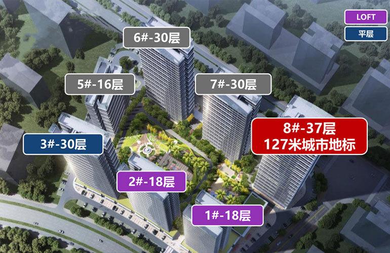 碧桂园宝岛上城 楼栋分布图