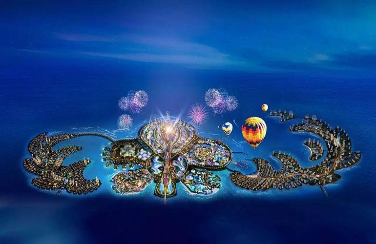 海蓝凤凰海岸恒大海花岛