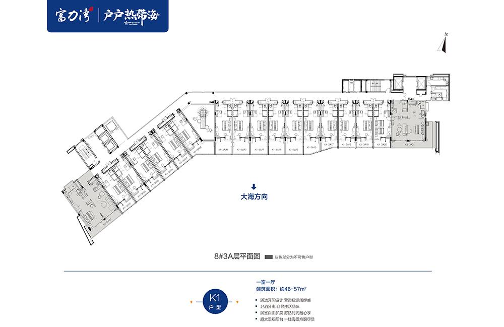 富力湾 游艇公馆8#平面图