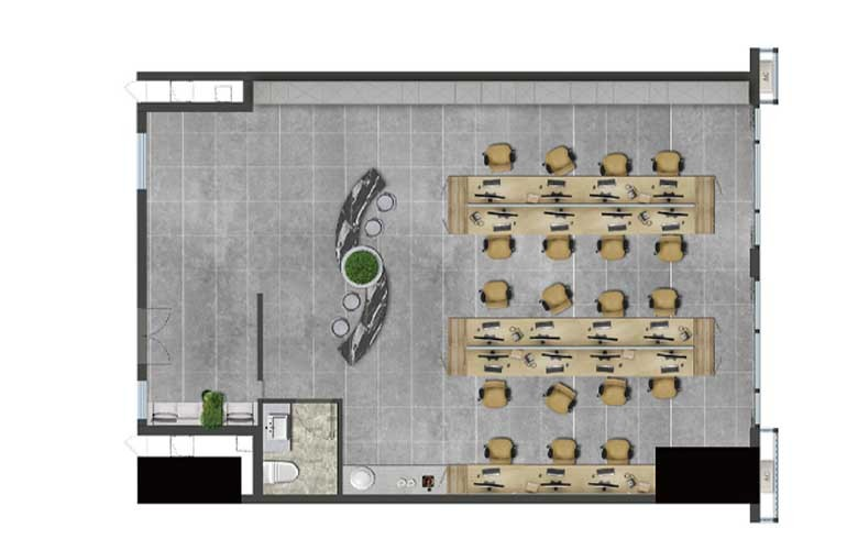 龙湖光年 昆府国际C户型 2室3厅2卫 建面153.5㎡