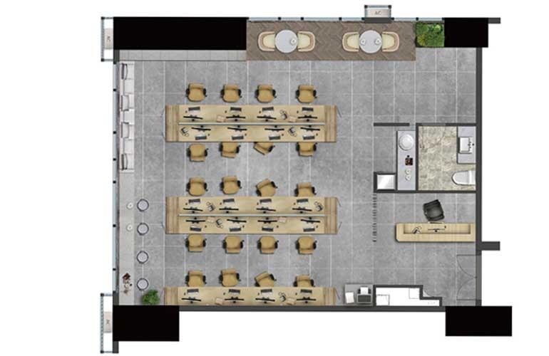 龙湖光年 昆府国际B户型 2室3厅2卫 建面155.5㎡