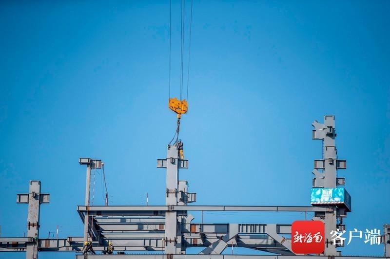瞰海南 | 海南国际能源交易中心拔地而起 力争3月底封顶
