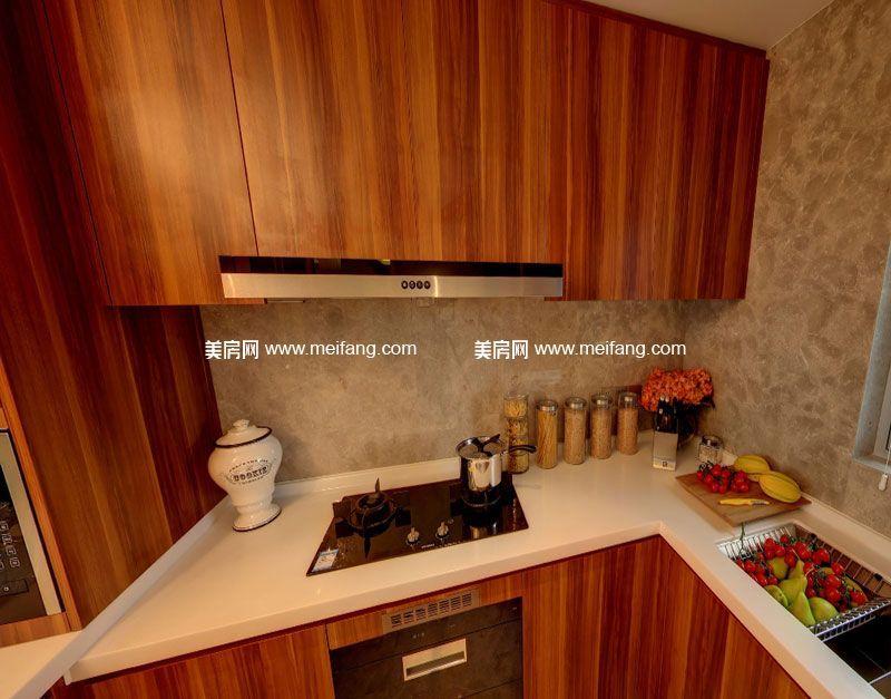 亚特兰蒂斯 B户型2室2厅2卫107㎡样板间:厨房